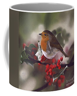 Robin And Berries Coffee Mug