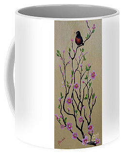 Robin And Spring Blossoms Coffee Mug