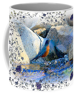 Coffee Mug featuring the photograph Robin by Athala Carole Bruckner