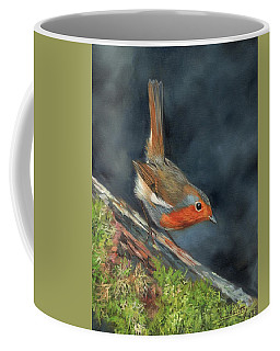 Coffee Mug featuring the painting Robin by David Stribbling