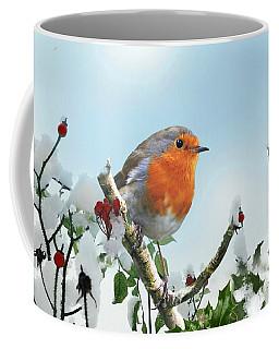 Robin In The Snow Coffee Mug