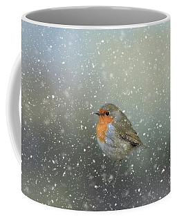 Robin In Winter Coffee Mug