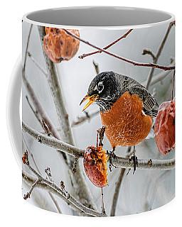 Robin Red Breast 3 Coffee Mug by Marty Saccone