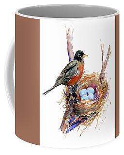 Robin With Nest Coffee Mug