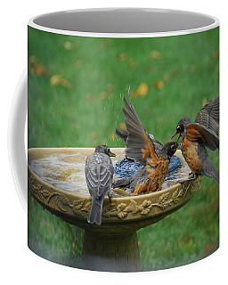 Robins Bathing Coffee Mug