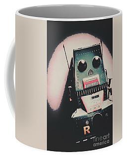 Robotic Mech Under Vintage Spotlight Coffee Mug