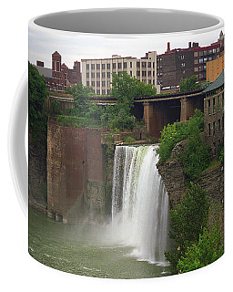 Coffee Mug featuring the photograph Rochester, New York - High Falls 2 by Frank Romeo