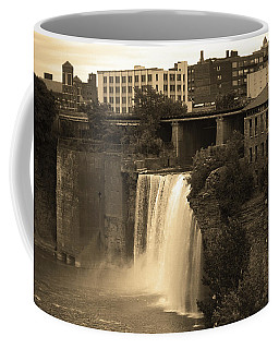 Coffee Mug featuring the photograph Rochester, New York - High Falls 2 Sepia by Frank Romeo