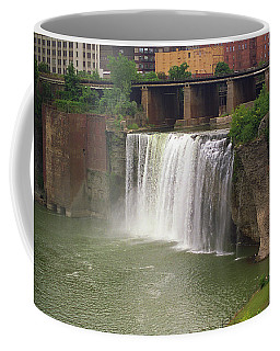 Coffee Mug featuring the photograph Rochester, New York - High Falls by Frank Romeo