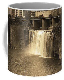Coffee Mug featuring the photograph Rochester, New York - High Falls Sepia by Frank Romeo