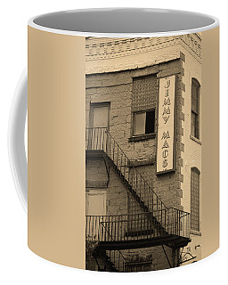 Coffee Mug featuring the photograph Rochester, New York - Jimmy Mac's Bar 2 Sepia by Frank Romeo