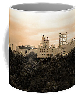 Coffee Mug featuring the photograph Rochester, Ny - Factory On A Hill Sepia by Frank Romeo