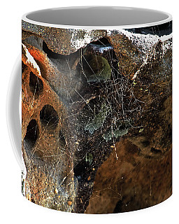 Rock Abstract With A Web Coffee Mug