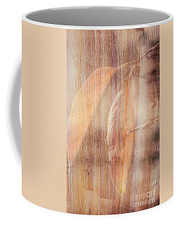Coffee Mug featuring the photograph Rock And Leaf Composite by Elaine Teague