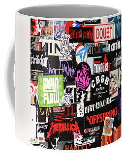 Rock And Roll Stickers Coffee Mug