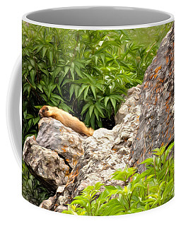 Coffee Mug featuring the photograph Rock Chuck by Lana Trussell
