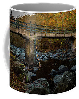 Coffee Mug featuring the photograph Rock Creek Park Bridge by Ed Clark