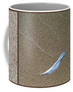 Rock Feather Glass Coffee Mug