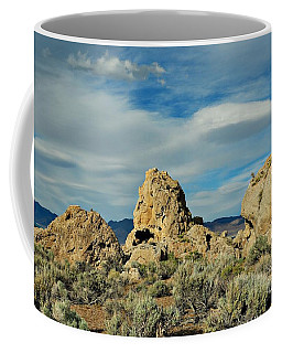 Coffee Mug featuring the photograph Rock Formations At Pyramid Lake by Benanne Stiens