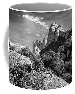 Rock Formations Montserrat Spain II Bw Coffee Mug