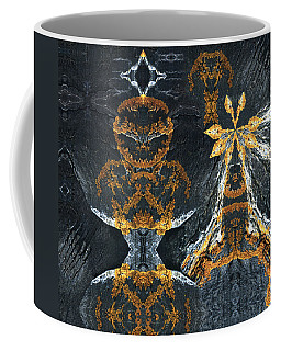 Coffee Mug featuring the digital art Rock Gods Lichen Lady And Lords by Nancy Griswold
