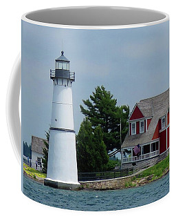 Rock Island Lighthouse July Coffee Mug