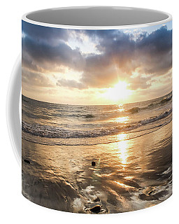 Coffee Mug featuring the photograph Rock 'n Sunset by Alison Frank