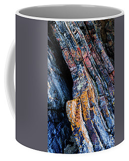 Coffee Mug featuring the photograph Rock Pattern Sc01 by Werner Padarin