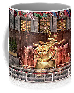 Coffee Mug featuring the photograph Rockefeller Center by Alison Frank