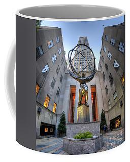 Rockefeller Centre Atlas - Nyc - Vertorama Coffee Mug