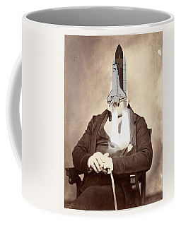 Rocket Away Your Gentleman Coffee Mug by Keshava Shukla