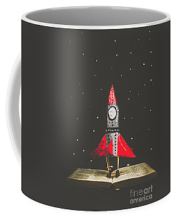 Rockets And Cartoon Puzzle Star Dust Coffee Mug