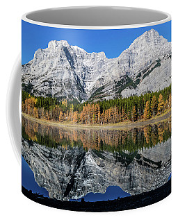 Rockies From Wedge Pond Under Late Fall Colours, Spray Valley Pr Coffee Mug