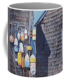Rockport Fishing Shack With Lobster-buoys And Nets Coffee Mug