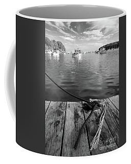 Rockport Harbor, Maine #80458-bw Coffee Mug