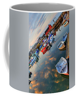 Coffee Mug featuring the photograph Rockport Harbor Motif #1  by Joann Vitali