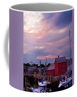 Coffee Mug featuring the photograph Rockport Sunset Over Motif #1 by Jeff Folger