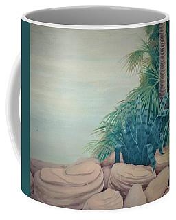 Rocks And Palm Tree Coffee Mug