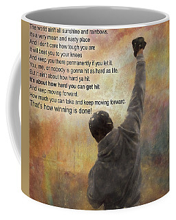 Rocky Balboa Inspirational Quote Coffee Mug