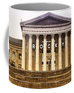 Rocky Balboa On The Art Museum Steps Coffee Mug