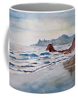 Coffee Mug featuring the painting Rocky Beach by Geni Gorani