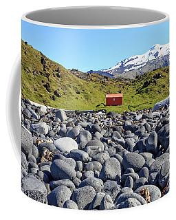 Coffee Mug featuring the photograph Rocky Beach Iceland by Edward Fielding