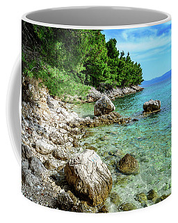 Rocky Beach On The Dalmatian Coast, Dalmatia, Croatia Coffee Mug