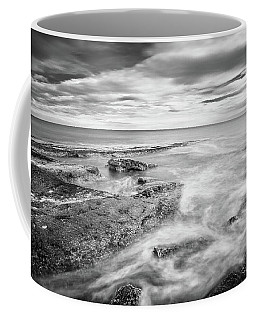 Coffee Mug featuring the photograph Rocky Coastline La Mata by Gary Gillette
