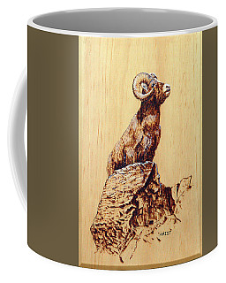 Rocky Mountain Bighorn Sheep Coffee Mug by Ron Haist
