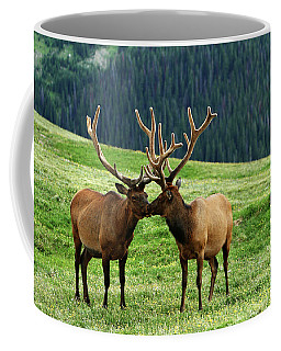 Coffee Mug featuring the photograph Rocky Mountain Elk 2 by Marie Leslie