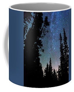 Coffee Mug featuring the photograph Rocky Mountain Forest Night by James BO Insogna