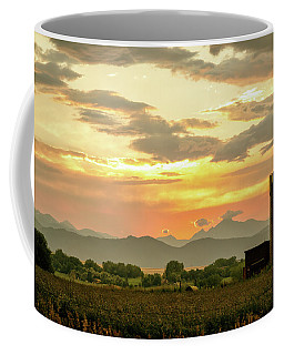 Coffee Mug featuring the photograph Rocky Mountain Front Range Country Landscape by James BO Insogna