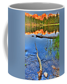 Rocky Mountain Lake Coffee Mug by Scott Mahon
