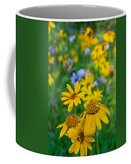 Coffee Mug featuring the photograph Rocky Mountain Wildflowers by Cascade Colors